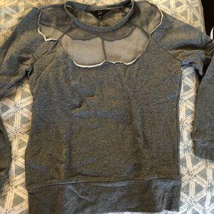 Jack gray sweatshirt w mesh, Med, new,never worn
